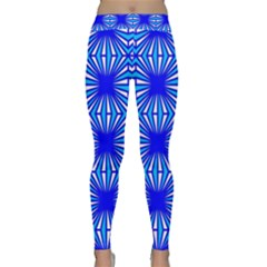 Retro Blue Pattern Yoga Leggings