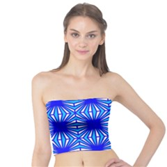 Retro Blue Pattern Women s Tube Tops