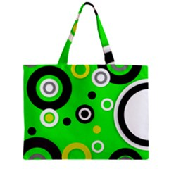 Florescent Green Yellow Abstract  Zipper Tiny Tote Bags
