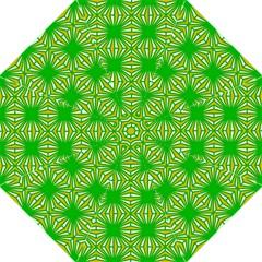 Retro Green Pattern Hook Handle Umbrellas (Medium)