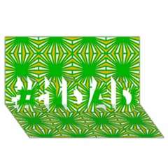 Retro Green Pattern #1 DAD 3D Greeting Card (8x4)