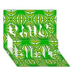 Retro Green Pattern You Did It 3d Greeting Card (7x5)