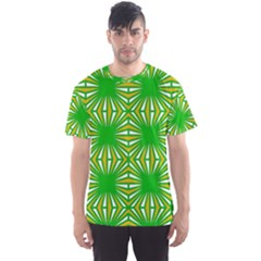 Retro Green Pattern Men s Sport Mesh Tees