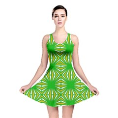 Retro Green Pattern Reversible Skater Dresses