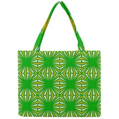 Retro Green Pattern Tiny Tote Bags