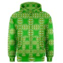 Retro Green Pattern Men s Zipper Hoodies View1