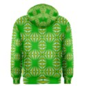 Retro Green Pattern Men s Zipper Hoodies View2
