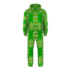 Retro Green Pattern Hooded Jumpsuit (kids)