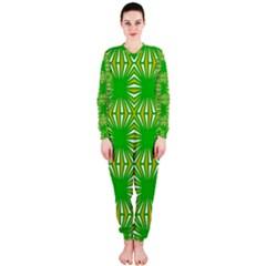 Retro Green Pattern OnePiece Jumpsuit (Ladies)