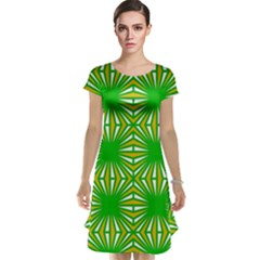 Retro Green Pattern Cap Sleeve Nightdresses