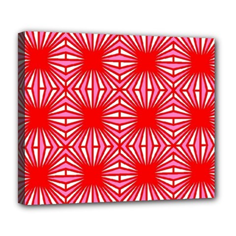 Retro Red Pattern Deluxe Canvas 24  X 20