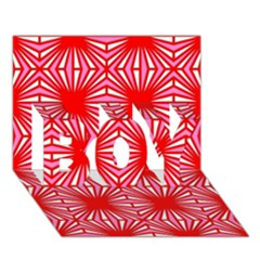 Retro Red Pattern BOY 3D Greeting Card (7x5)