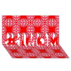 Retro Red Pattern #1 MOM 3D Greeting Cards (8x4)