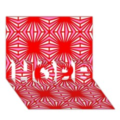 Retro Red Pattern HOPE 3D Greeting Card (7x5)