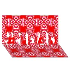 Retro Red Pattern #1 DAD 3D Greeting Card (8x4)