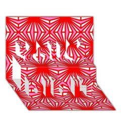 Retro Red Pattern You Did It 3D Greeting Card (7x5)