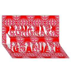 Retro Red Pattern Congrats Graduate 3d Greeting Card (8x4)