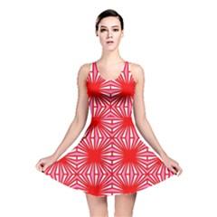 Retro Red Pattern Reversible Skater Dresses