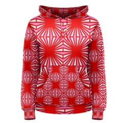 Retro Red Pattern Women s Pullover Hoodies