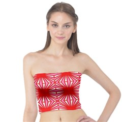Retro Red Pattern Women s Tube Tops