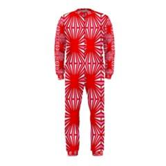 Retro Red Pattern Onepiece Jumpsuit (kids)