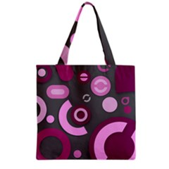 Grey Plum Abstract Pattern  Grocery Tote Bags