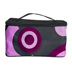 Grey Plum Abstract Pattern  Cosmetic Storage Cases