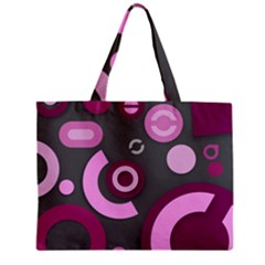 Grey Plum Abstract Pattern  Zipper Tiny Tote Bags
