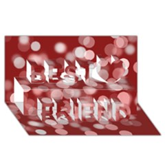 Modern Bokeh 11 Best Friends 3D Greeting Card (8x4)
