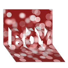 Modern Bokeh 11 BOY 3D Greeting Card (7x5)