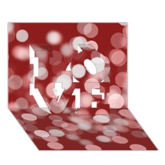 Modern Bokeh 11 LOVE 3D Greeting Card (7x5)