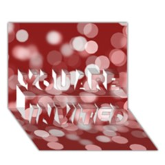 Modern Bokeh 11 YOU ARE INVITED 3D Greeting Card (7x5)