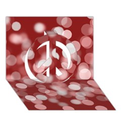 Modern Bokeh 11 Peace Sign 3d Greeting Card (7x5)
