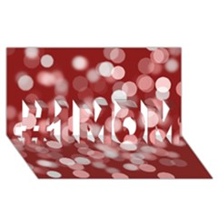 Modern Bokeh 11 #1 MOM 3D Greeting Cards (8x4)