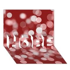 Modern Bokeh 11 Hope 3d Greeting Card (7x5)