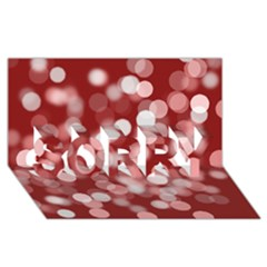 Modern Bokeh 11 SORRY 3D Greeting Card (8x4)