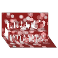 Modern Bokeh 11 Best Wish 3D Greeting Card (8x4)