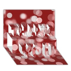 Modern Bokeh 11 THANK YOU 3D Greeting Card (7x5)