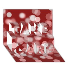 Modern Bokeh 11 TAKE CARE 3D Greeting Card (7x5)