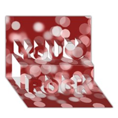 Modern Bokeh 11 You Rock 3d Greeting Card (7x5)