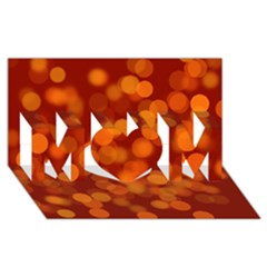 Modern Bokeh 12 Mom 3d Greeting Card (8x4)