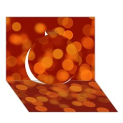 Modern Bokeh 12 Circle 3D Greeting Card (7x5)