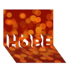 Modern Bokeh 12 Hope 3d Greeting Card (7x5)