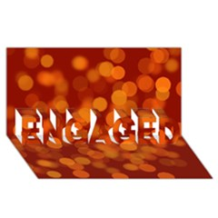 Modern Bokeh 12 ENGAGED 3D Greeting Card (8x4)