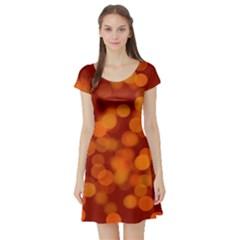 Modern Bokeh 12 Short Sleeve Skater Dresses
