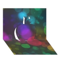 Modern Bokeh 15 Apple 3d Greeting Card (7x5)