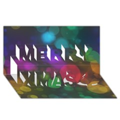Modern Bokeh 15 Merry Xmas 3D Greeting Card (8x4)
