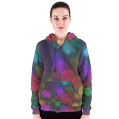 Modern Bokeh 15 Women s Zipper Hoodies