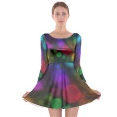 Modern Bokeh 15 Long Sleeve Skater Dress