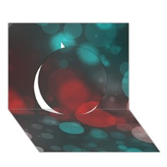 Modern Bokeh 15b Circle 3d Greeting Card (7x5)